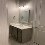 Hall Bath Has Two Vanities